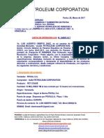 LOI ESPAÑOL ALBA Nº A0007-C17, COQUE PDVSA -
