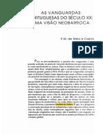 As Vanguardas Portuguesas Do Século XX