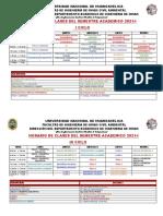 HORARIO DEL SEMESTRE 2021-I-1
