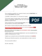 Atividade IV ( CORRETA)