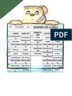 HORARIO DE  CLASES 3°B