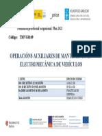 Curso AFD de Operacións auxiliares de mantemento en electromecánica de vehículos