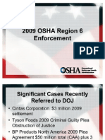 2009 Region OSHA Enforcement