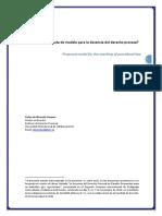 Propuesta De Modelo Para La Docencia Del Derecho Procesal