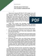 Penjelasan Tentang Fatwa Aliran Ahmadiyah