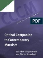 Critical Companion to Marxism