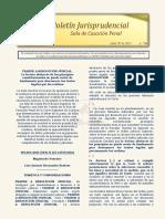 Boletín Jurisprudencial No 04 del 30 de abril de 2021