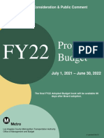 Metro Proposed budget book for FY 2022