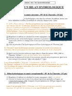 M52 TD4 - Bilan Hydrologique - Correction