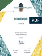 Participation Certificate Seplades