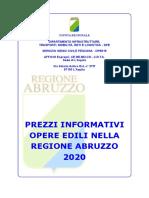 1) Indice e Note 2020 - Prezzario Regione Abruzzo