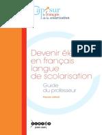 Devenir élève en français langue de scolarisation
