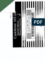 Casio MT240 User Manual