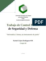 Trabajo Control Parcial SYD Rachel Lopez