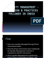 Liquidity Management - Evolution & Practices followed in India