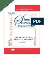 108 Studii - Florian Libocor - Uniunea bancară - realităţi europene