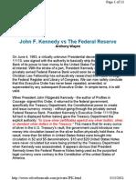 JFK vs Federal Reserve
