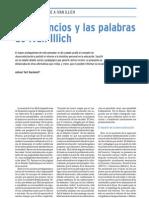 LOS SILENCIOS Y LAS PALABRAS DE IVAN ILLICH