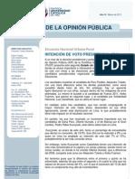 Intención de voto presidencial MARZO 2011 (NACIONAL)