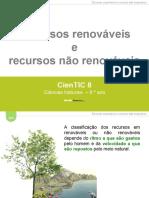 m3 Recursos Renovc3a1veis e Nc3a3o Renovc3a1veis
