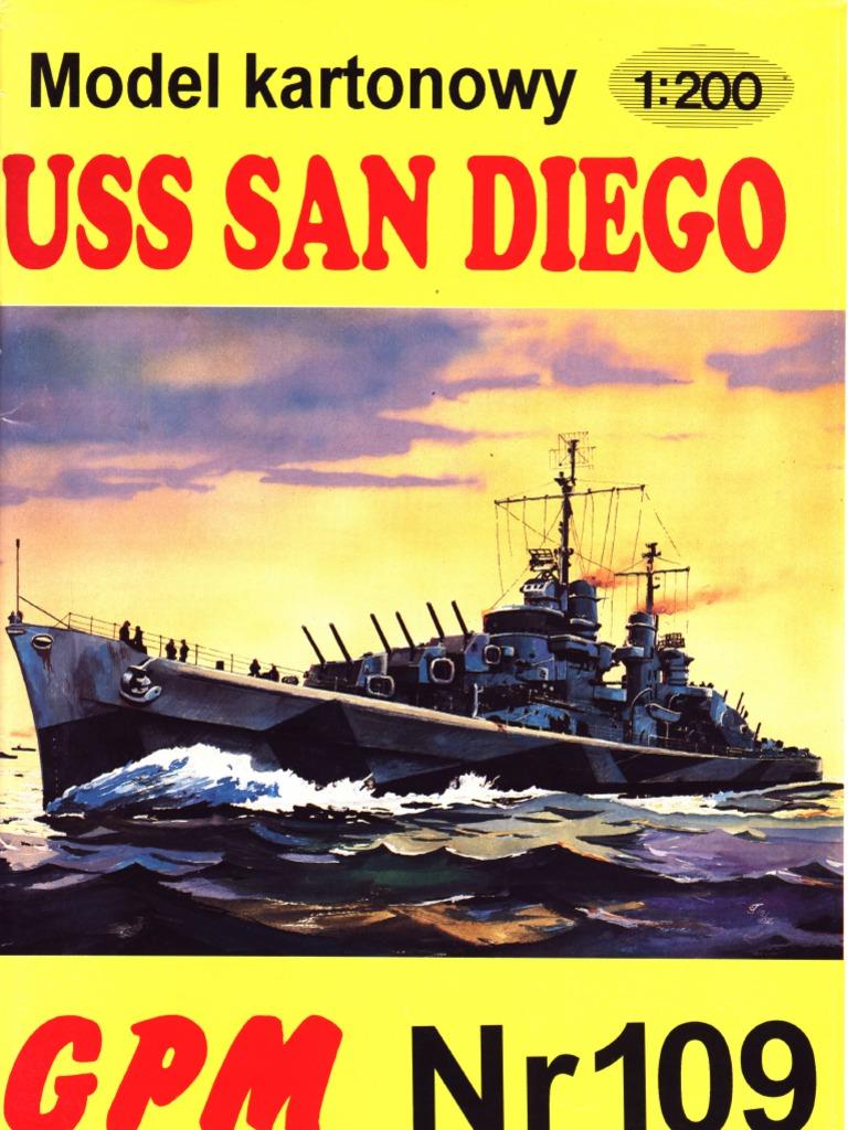 GPM 109] - Light Cruiser CL(AA) 53 USS San Diego