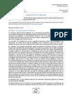 Annonce d'arrets et decisions 14-16.02.17