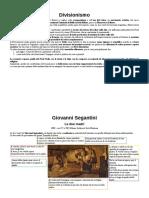4. Divisionismo - Segantini - Previati