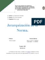 1.3.-Jerarquización de la norma. Elaborar la pirámide de Kelsen y explicar cada una de las jerarquías, y definir en qué lugar de la pirámide ubicamos los códigos