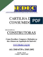 Cartilha do Consumidor - CAPA - 1ª Edição - Construtoras -.