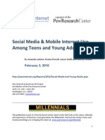 PIP Social Media and Young Adults Report Final With Toplines