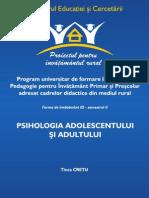 Psihologia adolescentului si adultului, Tinca Cretu