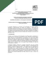 Edital PPED Mestrado 2011