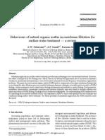 1. Behaviours of natural organic matter in membrane...