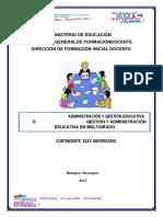 Modulo de Gestion y Adminsitracion2020