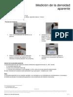 Arpro Instrucciones de Medicion de La Densidad Aparente Es