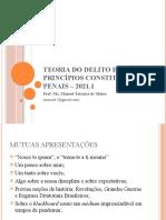 Princípios e teoria do delito – 2021.1 - Aula 01. Apresentações