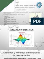 MAXIMOS Y MINIMOS EXPOSICION - GRUPO 7