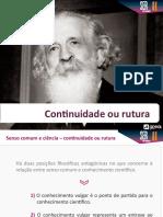 _senso_comum_ciencia - Continuidade Ou Ruptura