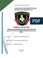 ANÁLISIS DEL ART. 166° DE LA CONSTITUCIÓN POLÍTICA DEL PERÚ