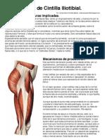 Tendinopatía de Cintilla Iliotibial. Resumen