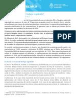 Informe trabajo registrado mayo - Ministerio de Trabajo de la Nación