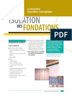 Isolation Fondations