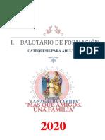 I Balotario Formación-Sacramentos