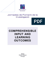 COMPREHENSIBLE INPUT AND LEARNING OUTCOMES