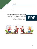 TRATAMIENTO CC DEPRESION EN ADOLESCENTES
