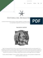 HISTORIA  del Biomagnetismo