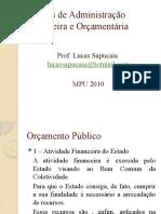 Noções de Administração Financeira e Orçamentária