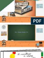 Día del libro Pre-kinder, Kinder, 1° básico