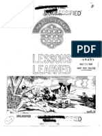 Lessons Learned 39 Ambush Operations, 11 MAR 64 (OCR)