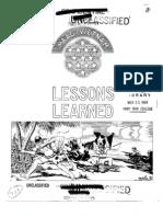 Lessons Learned 39 Ambush Operations, 11 MAR 64 (OCR)